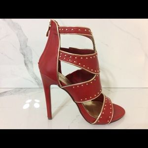 "New Women's Bling Red Shoes Sexy 5"" Heels Size 8.5"